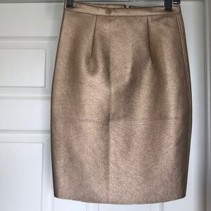 Dresses & Skirts - Choice of NWOT Gold Pleather Pencil Skirt